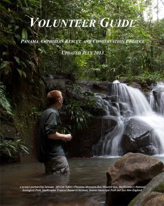 Click this Image to Download the 2013 Volunteer Guide to the Panama Amphibian Rescue and Conservation Project