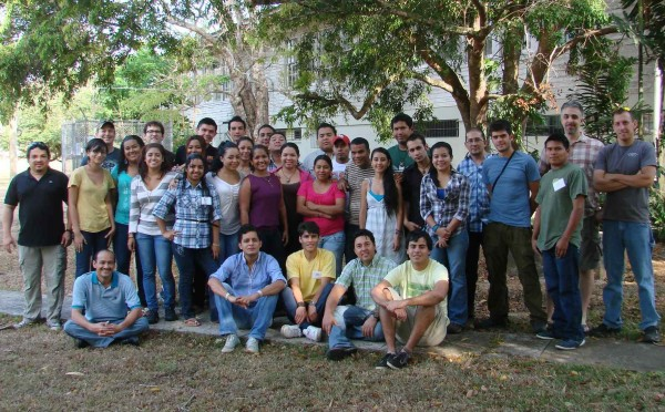 Participants and instructors from throughout Latin America at the recent Amphibian Ark training workshop in Gamboa, Panama