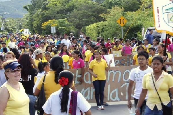 Desfile del día de la rana dorada 2013 en El Valle.