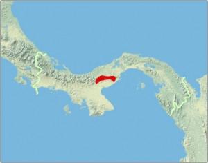 Atelopus zeteki range map