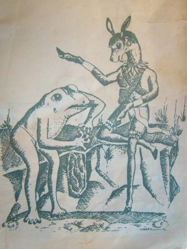 La historia del venado y la rana